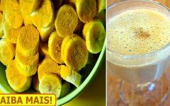 Vitamina de banana com açafrão – melhora a saúde do fígado e a ansiedade