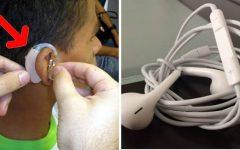 Estudante dorme com fones de ouvido e acorda surdo de um ouvido