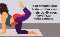 5 exercícios que toda mulher com mais de 40 anos deve fazer toda semana