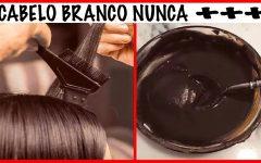 Tinta NATURAL p/CABELO BRANCO ??Aprenda a Preparar em CASA-CABELO BRANCO GRISALHO nunca ++