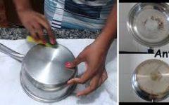 Como tirar manchas de panela de inox e deixá-las brilhando