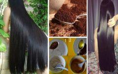 Hidratação bomba de café para o cabelo crescer mais rápido e disciplinado