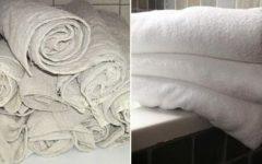 Excelente truque que vai deixar suas toalhas velhas como novas