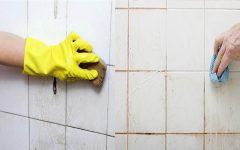 Você nem imagina como é fácil de limpar azulejos de banheiros encardidos!