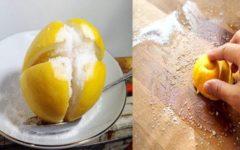 Limão com sal – 2 grandes aliados na limpeza doméstica