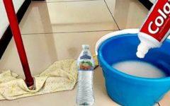 Use pasta de dente para passar pano no chão: piso limpo e brilhando