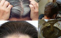 Como eliminar os cabelos brancos em 3 dias. [Receita Caseira]