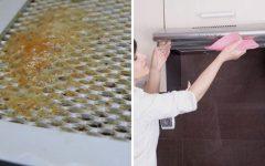 Como limpar exaustor do fogão e a porta dos armários – truque rápido e simples