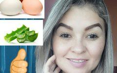 Misture babosa e clara de ovo para eliminar rugas e manchas no rosto