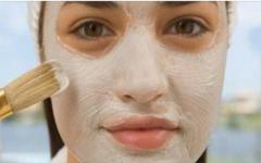 Máscara facial com bicarbonato de sódio e vinagre